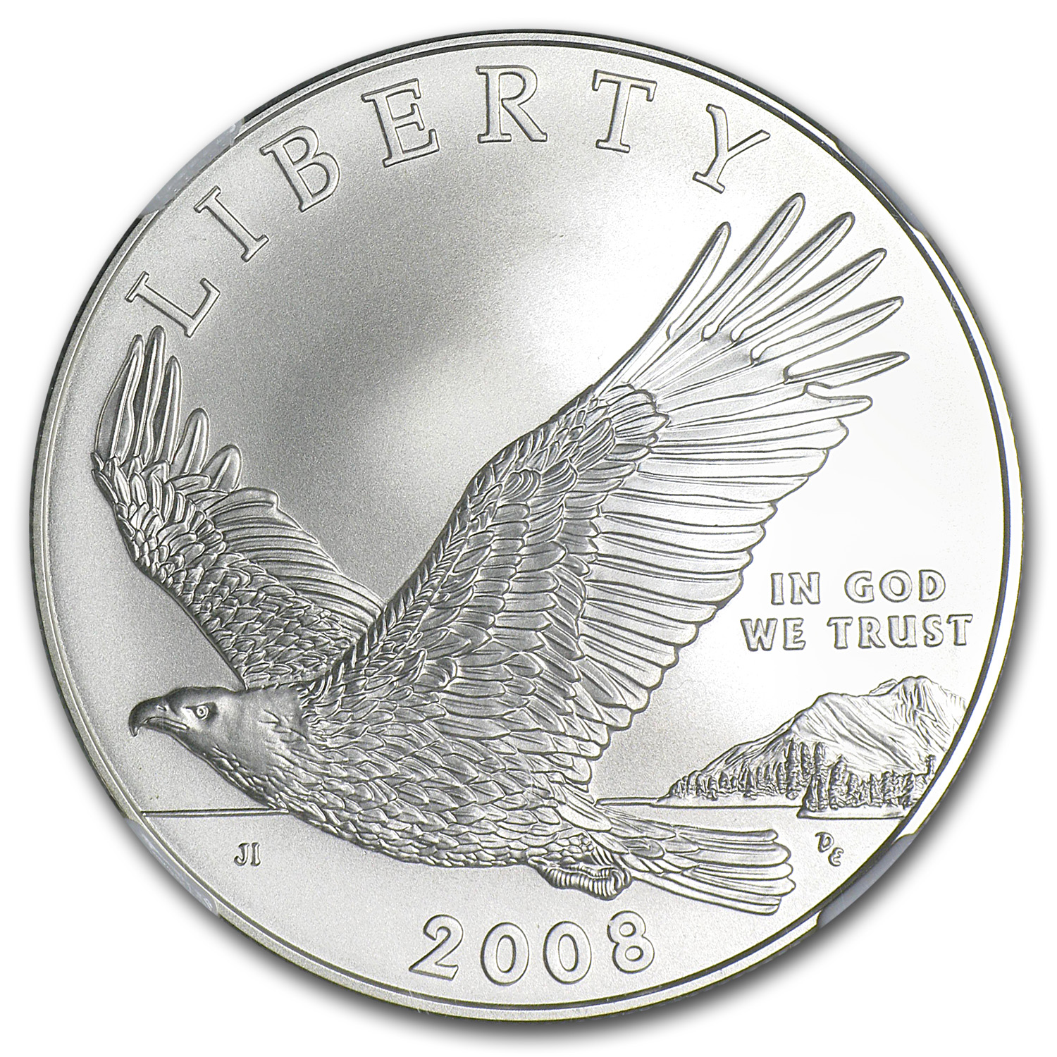 2008-P Bald Eagle $1 Silver Commem MS-70 NGC
